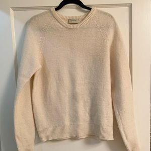 Lemaire cream wool sweater small
